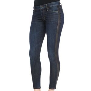 Hudson | Leather side super skinny Jeans
